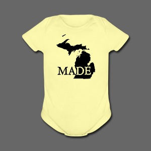 Michigan Made - Short Sleeve Baby Bodysuit