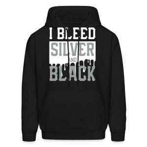 Silver n Black hoodie - Men's Hoodie