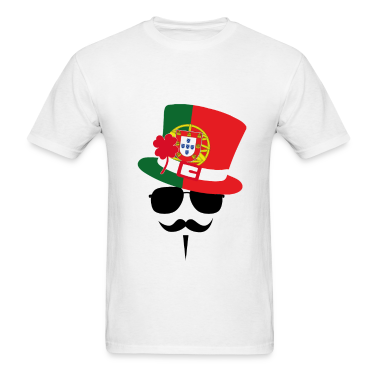 Portugal Go Mustache Fan T-Shirts