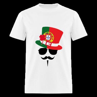Portugal Go Mustache Fan T-Shirts