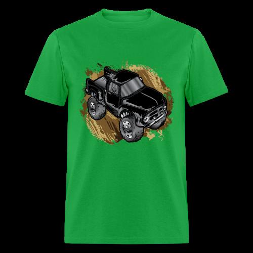 Old Black Mudder Monster Truck - Men's T-Shirt