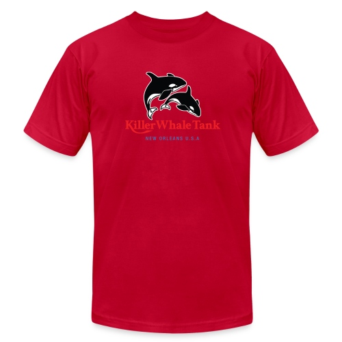 'Killer Whale Tank' Tee - Men's Fine Jersey T-Shirt