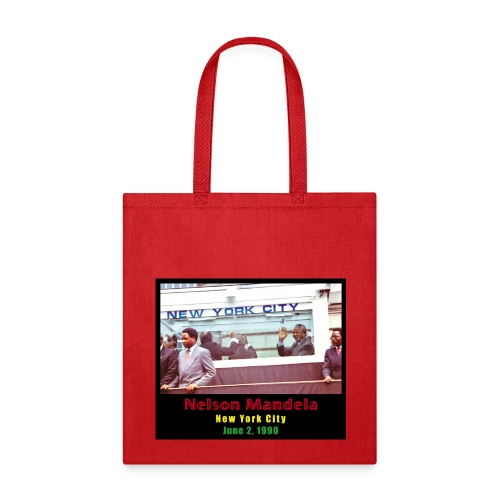 Nelson Mandela in NYC - Tote Bag
