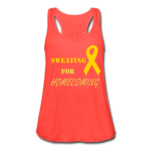 Sweating for Homecoming - Women's Flowy Tank Top by Bella