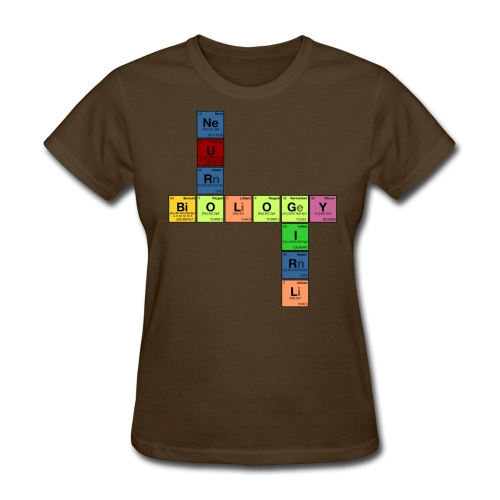 NEURO BIOLOGY GIRL - Periodic Elements Scramble! - Women's T-Shirt