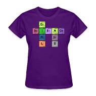 Women's T-Shirts ~ Women's T-Shirt ~ science girl nerd - periodic element scramble
