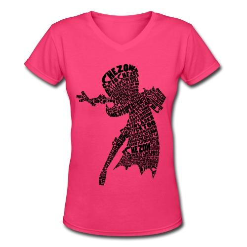 Guy is SheZow! Tee for She - Women's V-Neck T-Shirt