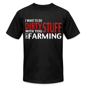 LikeFarming - Men's T-Shirt by American Apparel