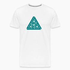 Impossible triangle optical illusion, Escher,  T-Shirts