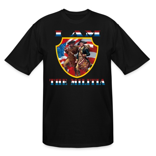 I Am the Militia Mens Tall Tee (Chest Insignia) - Men's Tall T-Shirt