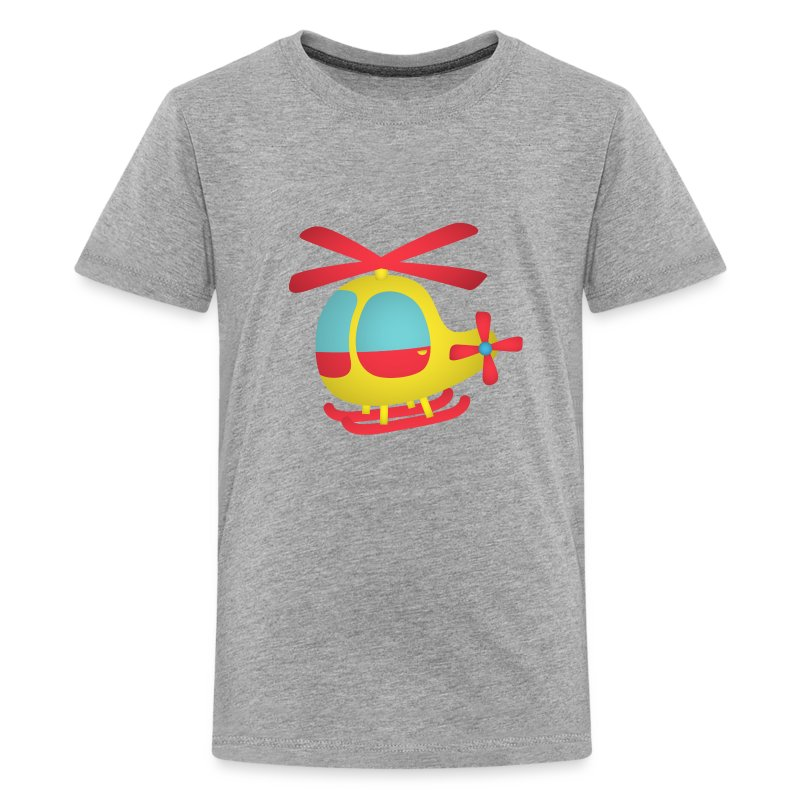 Red and yellow cute helicopter for kids t shirt spreadshirt for Yellow t shirt for kids