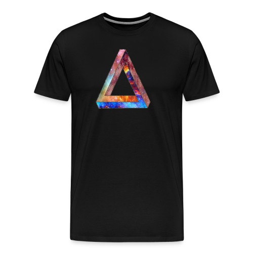 Galaxy Triangle T-Shirt - Men's Premium T-Shirt