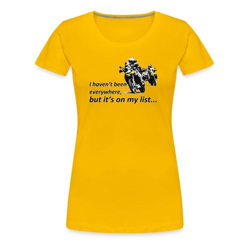Dualsport - on my list 2 / Shirt LADIES - Women's Premium T-Shirt