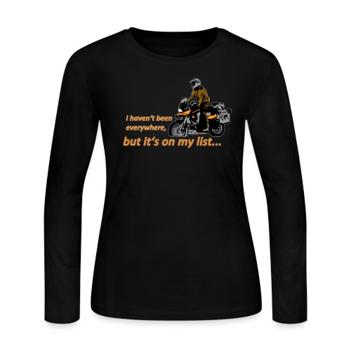 Dualsport - it's on my list 1 / Longsleeve LADIES - Women's Long Sleeve Jersey T-Shirt