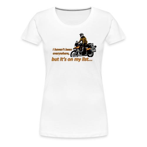 Dualsport - it's on my list 1 / Shirt LADIES - Women's Premium T-Shirt