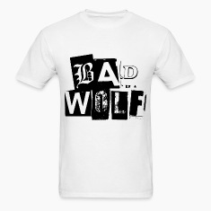 Doctor Who T-Shirts: Bad Wolf Typography Tee T-Shirts