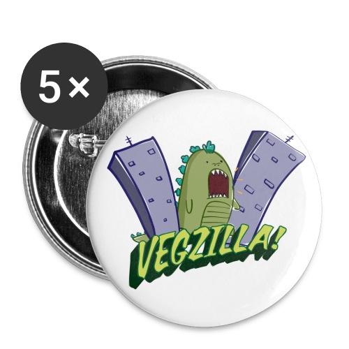 Vegzilla Logo Buttons - Small Buttons