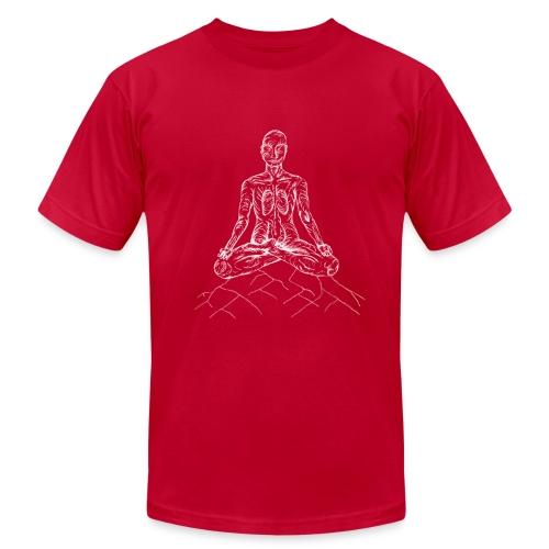 Yoag Tree Mediitation Man - Men's Fine Jersey T-Shirt