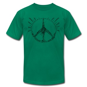Yoag Tree Triangle of Peace - Men's Fine Jersey T-Shirt
