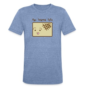 Cute Pan Seared Tofu Men's Tee - Unisex Tri-Blend T-Shirt by American Apparel