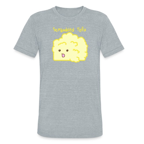 Cute Scrambled Tofu Men's Tee - Unisex Tri-Blend T-Shirt