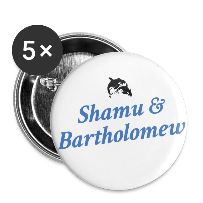 Shamu & Bartholomew Buttons (SM)
