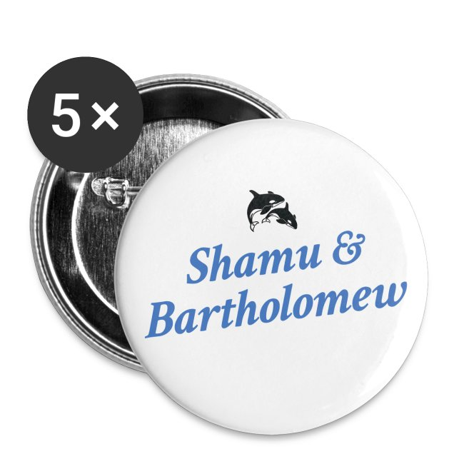 Shamu & Bartholomew Buttons (LG)