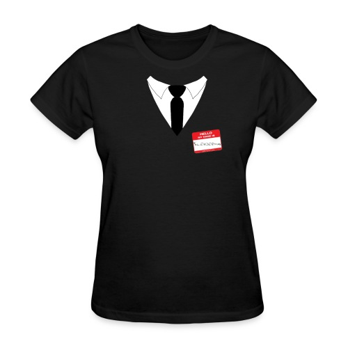 Hello my name is: Slenderman (Girls cut) - Women's T-Shirt