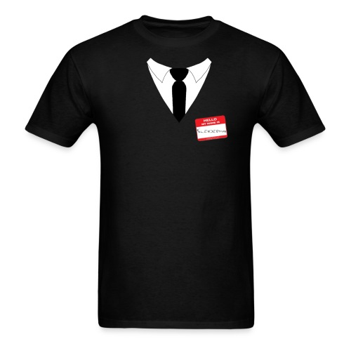 Hello my name is: Slenderman - Men's T-Shirt