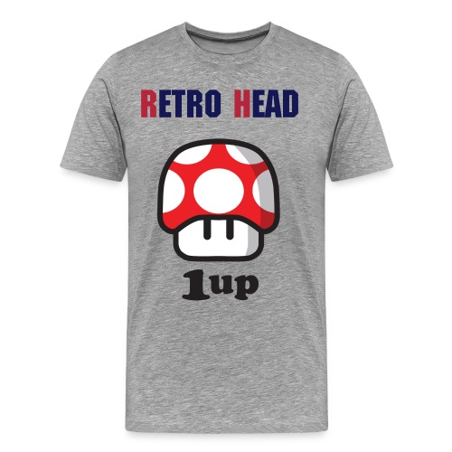 Retro Head - Level Up T-Shirt  - Men's Premium T-Shirt