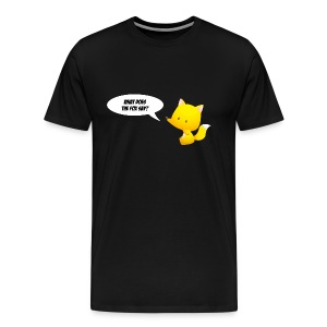T-shirt What does the fox say? - Men's Premium T-Shirt