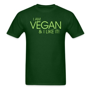 I am vegan and I like it  - Men's T-Shirt