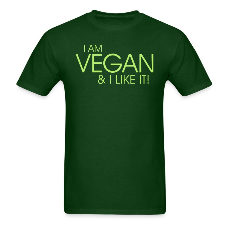 I am vegan and I like it  - Men's T-Shirt