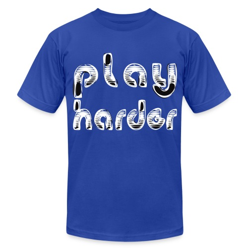 Work Hard Play Harder - Men's Fine Jersey T-Shirt