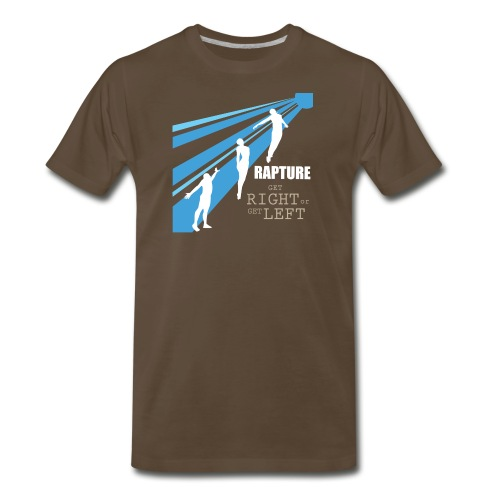 Rapture Get Right or Get Left - Men's Premium T-Shirt