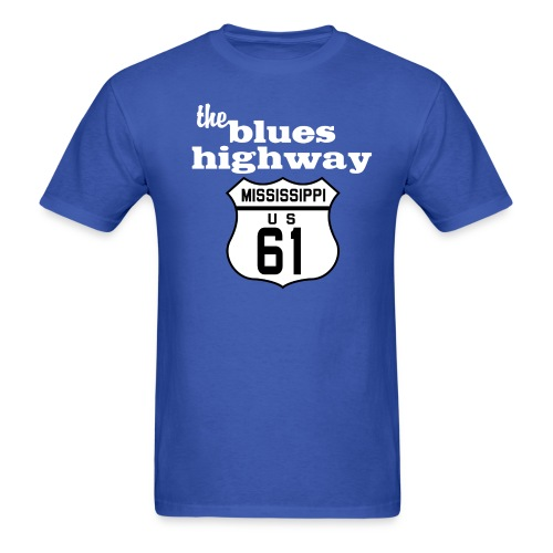 Blues Highway - Men's T-Shirt