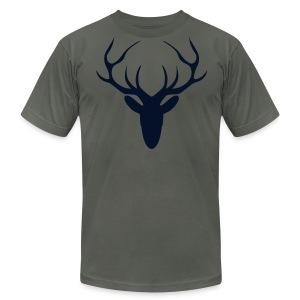 Black Gitz Stag Top - Men's Fine Jersey T-Shirt