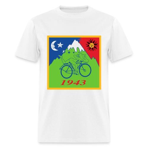 Hofmann's Bike ride LSD Blotter Art Psychedelic Tee - Men's T-Shirt