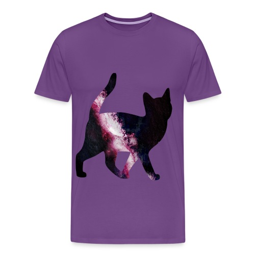 Men's Space Cat T-Shirt - Men's Premium T-Shirt