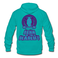 Zip Hoodies & Jackets ~ Unisex Fleece Zip Hoodie by American Apparel ~ Dawn of The Deadlift Hoodie Womens Hoodie 02
