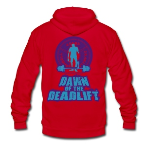 Dawn of The Deadlift Hoodie Womens Hoodie 02 - Unisex Fleece Zip Hoodie by American Apparel