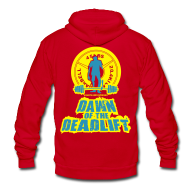 Zip Hoodies & Jackets ~ Unisex Fleece Zip Hoodie by American Apparel ~ Dawn of The Deadlift Womens Hoodie