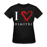 Women's T-Shirts ~ Women's T-Shirt ~ I heart Dimitri