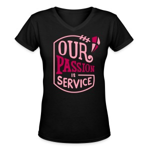 Our Passion- Women's V- by Derek Britton - Women's V-Neck T-Shirt