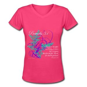 Proverb  31 - Women's V-Neck T-Shirt