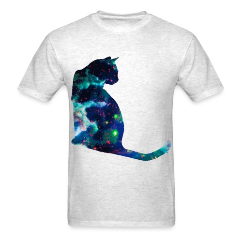 Blue Space Cat - Men's T-Shirt