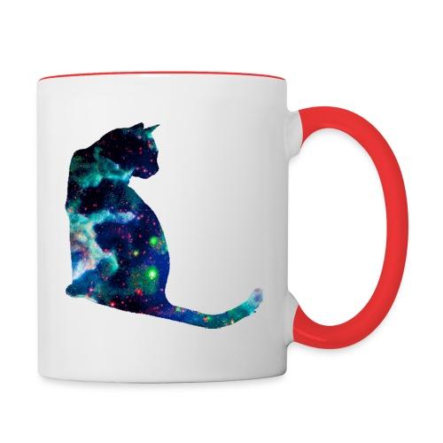 Blue Cat Mug - Contrast Coffee Mug