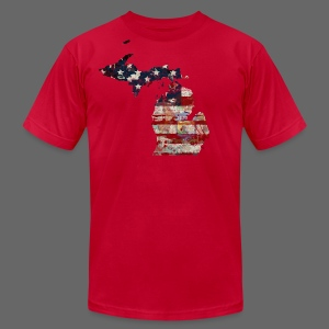 State and Country - Men's T-Shirt by American Apparel