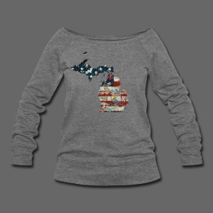 State and Country - Women's Wideneck Sweatshirt