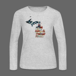 State and Country - Women's Long Sleeve Jersey T-Shirt